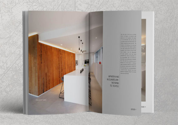 Designing of an interior magazine, clean and mimimalistic.